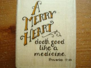 New Holly Pond Hill Saying A Merry Heart Doeth Good Like Medicine