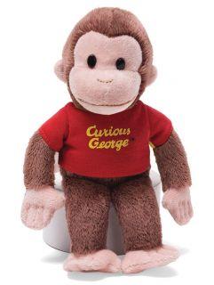 Gund 8 Bean Bag Plush Curious George in Red T Shirt New