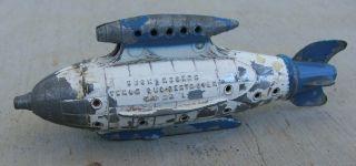 Vintage Metal Tootsie Toy Buck Rogers Venus Duo Destroyer Space Ship