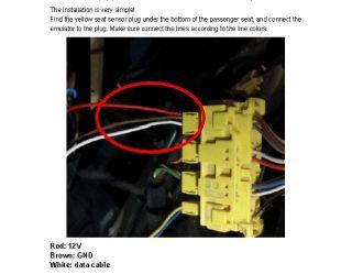 Seat Occupancy Emulator Sensor for Mercedes Benz Repair SRS Light