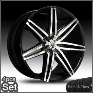 24 Lexani Johnson Wheels and Tires Pkg for Lexus Impala Honda Auio
