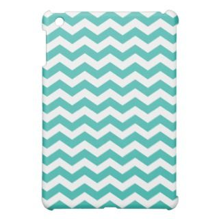 Aqua Chevron Stripes iPad Mini Case