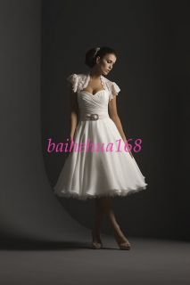 Short Chiffon Tea Length Wedding Dress Bridesmaid Gowns
