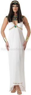 Egyptian Queen Adult Costume includes Sexy White Dress, Collar with