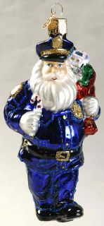 Merck Familys Old World Christmas Ornament Police Officer Santa