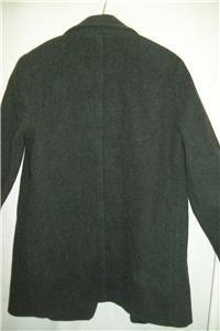 Percy Peacoat Melton Merino Wool Coat 8 Medium