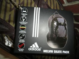 Adidas Melvin Skate Pack Backpack Bag Bookbag Laptop Holder