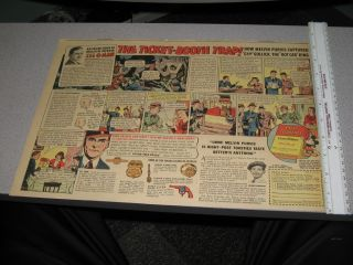 Newspaper Ad 1930s Melvin Purvis G Man Comic Book Strip Siren Gun