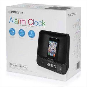 New Memorex MA4525 FM Clock Radio for iPod & iPhone w Dual Charging