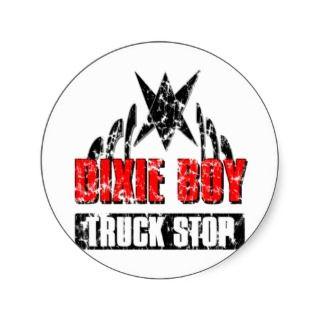 Dixie Boy Truck Stop Vintage Logo Round Sticker
