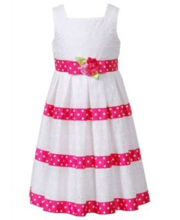 Sweet Heart Rose Kids Dress, Little Girls Eyelet Dress   Kids