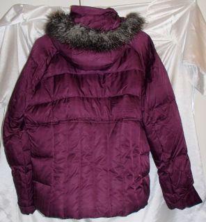 Columbia Luxey Bay Womens Down Winter Coat Ski Jacket Plum Black