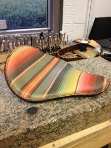 Rich Phillips Mexican Blanket Spring Solo Motorcycle Seat Chopper