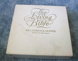 Living Bible Old Testament read by Sir Laurence Olivier, 12 record LP