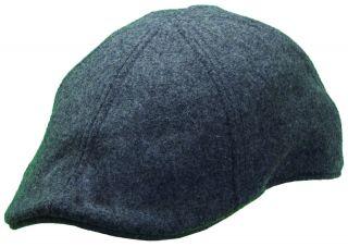 New Woolrich Duckbill Mens Ivy Driver Driving Hat Cap Black Wool