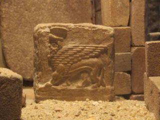 Mesopotamia Art Assyrian Winged Bull Relief Sculpture Amulet