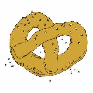 salty hot soft pretzel cut outs
