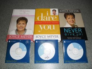 of 3 Joyce Meyer Hardcover Books 3 Joyce Meyer Sermons on CD