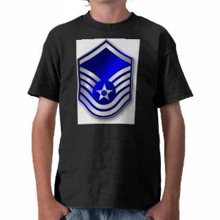 USAF Air Force MSgt E 7 Metallic T Shirts