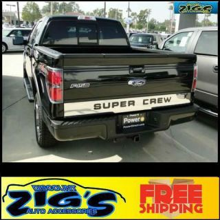 Professional Trim Rear Tailgate Stainless Steel Trim with Super Crew