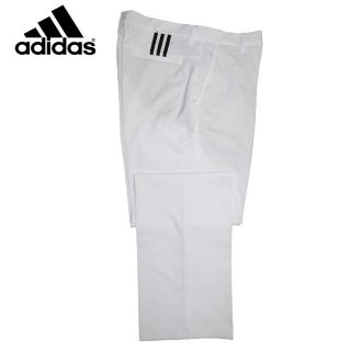 Stripe Golf Pants Trousers Mens 2012 Adidas Navy Black or White New