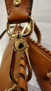 Authentic Michael Kors Medium Brown Leather Tote Bannet Handbag MSRP $
