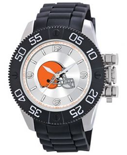 Game Time Watch, Mens Cleveland Browns Black Polyurethane Strap 47mm