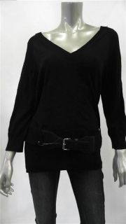 Michael Michael Kors Giftables Misses Womens Knit V Neck Sweater Sz L