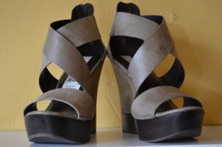 MIA Limited Edition Gray Leather Sandal Women Sz 10