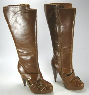 Womens Michael Antonio Orlina Boots Tall Heels Brown 7