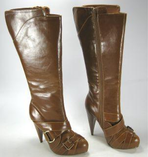 Womens Michael Antonio Orlina Boots Tall Heels Brown 7
