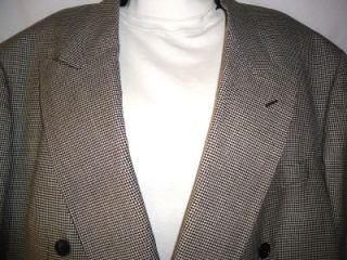 Mens Michael Jordan Black White Houndstooth Wool Sport Jacket 46L