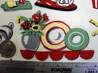 Michael Miller Retro 50s Kitchen Novelty Fabric Yard