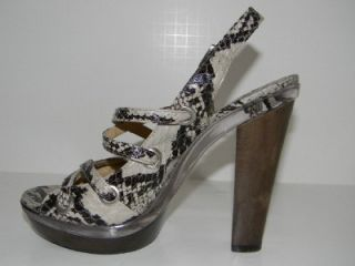 Michael Kors Genuine Snakeskin Leather Platform Heels Shoes Sandals 6