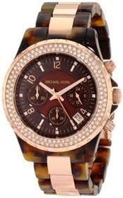 Michael Kors Womens MK5416 Madison Chronograph Tortoise / Rose Gold