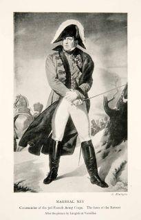 1914 Print Marshal Michel Ney Napoleonic Wars Commander 3rd French