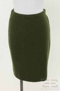 Michael Robinson Dark Green Cashmere & Rabbit Fur Jacket, Pant & Skirt
