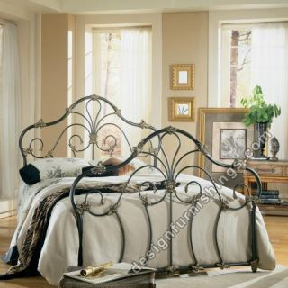 Ashley Marcella Queen Full Metal Bed Gunmetal B133