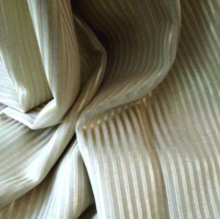 Designer Fabric Gold Lurex Stripe Jacquard Weave Yd