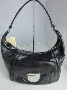Michael Kors Riley Jet Set Medium Shoulder Hobo Handbag Black Retail $
