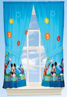 Disneys Mickey Mouse Drapery Window Curtains Drapes Set