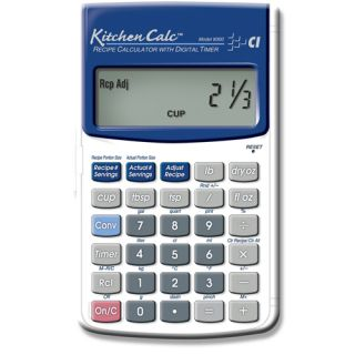 Kitchen Calculator Hand Held with Digital Timer 98584083007