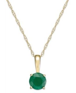 Effy Collection 14k Gold Necklace, Emerald (1 3/8 ct. t.w.) and