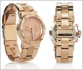 Michael Kors MK5499 Rose Gold Womens Chronograph Watch MSRP$250