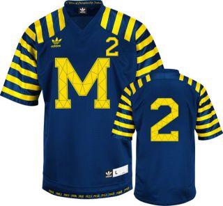 Michigan Wolverines Navy Adidas 2 Throwback Premier Jersey