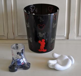 Disney Mickey Mouse Bathroom 3 pc Set ~ Glove Hand Soap Dish Tumbler