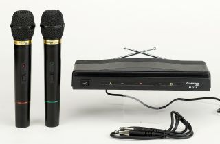 Quantumfx Twin Wireless Microphone System Mic