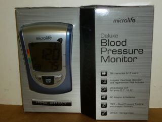 New Microlife Deluxe Blood Pressure Monitor Model BP3NQ1 4W