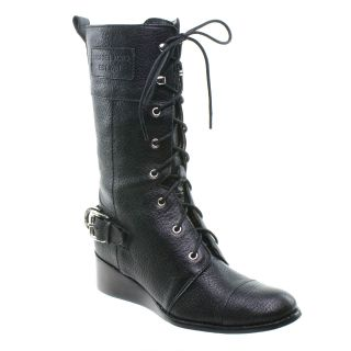 Michael Kors Woodley Combat Fashion Boot Black New