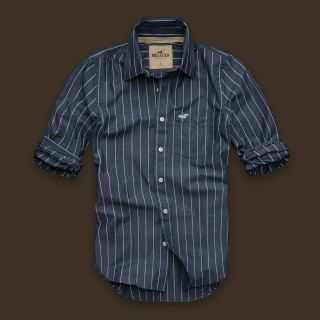 New Hollister Abercrombie Mens Fitted Classic Shirt S